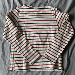 Uniqlo Boatneck Canvas Striped Top NWT